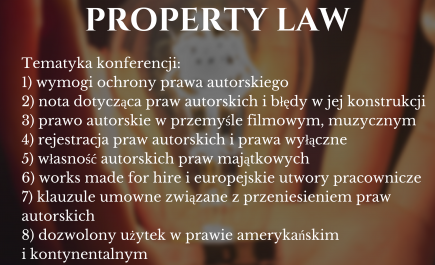 "Patronat honorowy nad konferencją ""American & European Intellectual Property Law"""